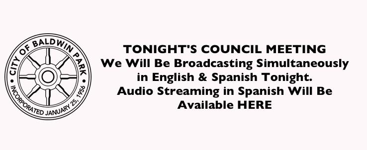 Click Here For Spanish Audio Stream • Presione aquí para español